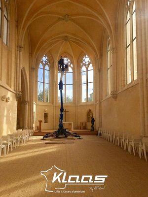 Nacelle araignée hauteur de travail église