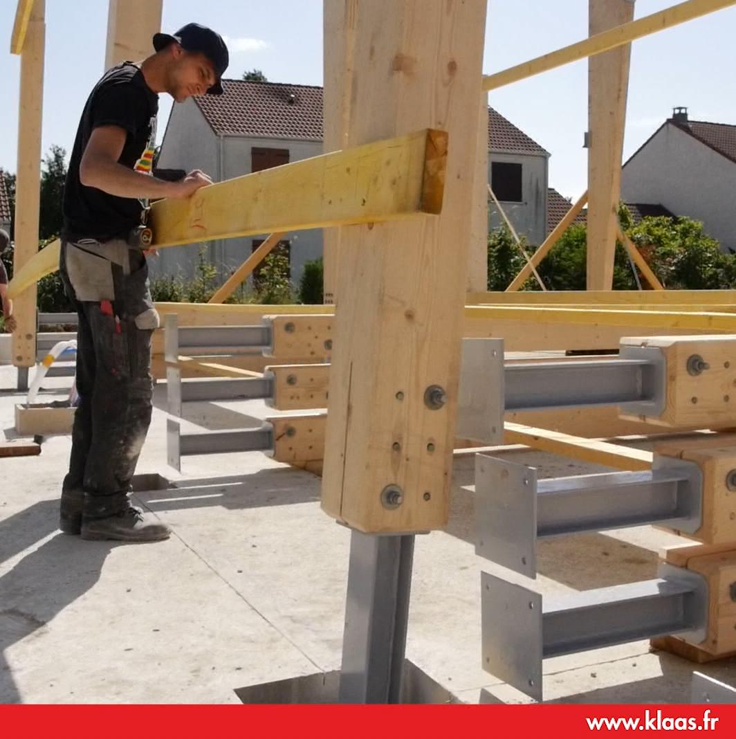 location grue sur remorque construction maison ossature bois mob