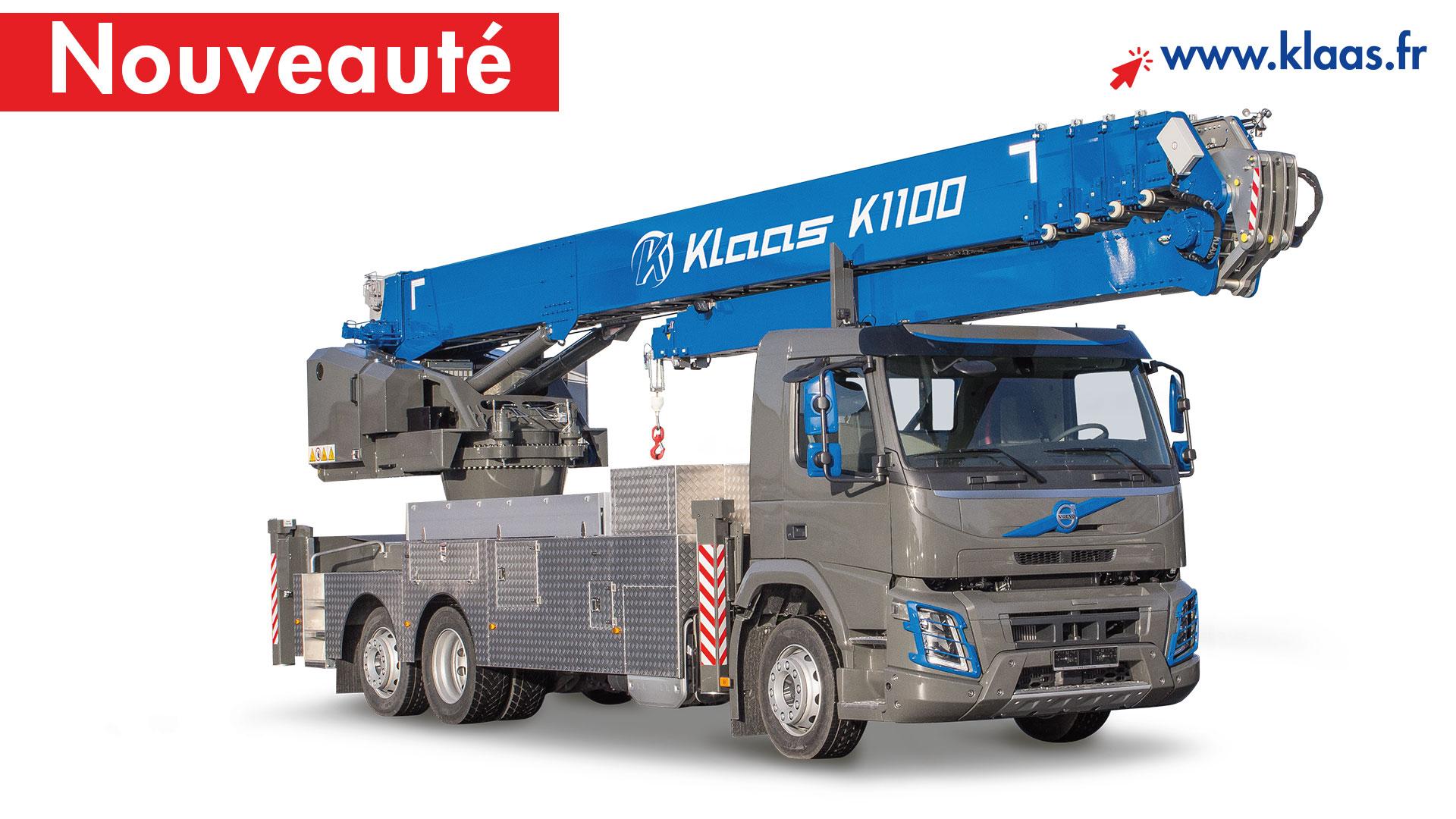 location grue mobile sur camion k1100