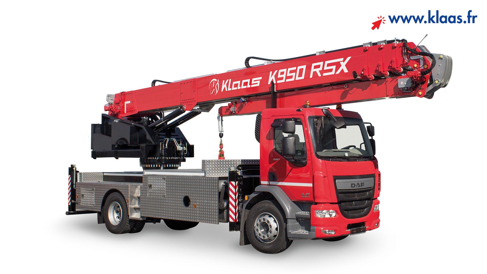 location grue mobile sur camion k950