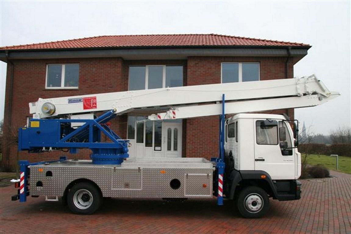 Grue mobile sur camion de 7 5t klaas for Piscine mobile sur camion